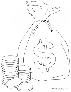 Kids Coloring Pages Money Coloring Pages