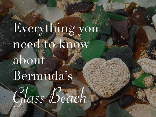 Sea glass in Bermuda