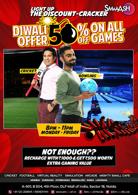 This Diwali, Celebrate the festival of light with SMAAASH for Maximum Fun and Minimum Pay offer