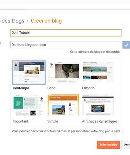 Créer un blog gratuit sur Blogspot