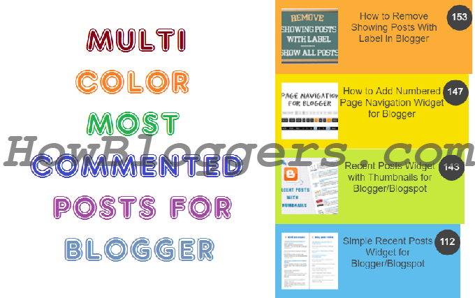 add multicolored most commented posts in blogger post