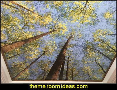 looking up in forest Mural  MURALS - door murals - wall murals - window sticker decals - ceiling murals - door posters - floor wallpaper - Styrofoam Crown Moldings - wall murals - wallpaper murals - floor decals - window wallpaper - Glow in the dark wall mural - decals for stairs