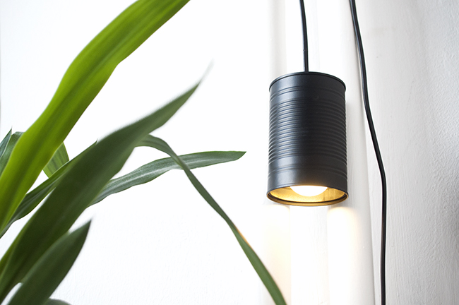 4in1 upcycled tin can lamp
