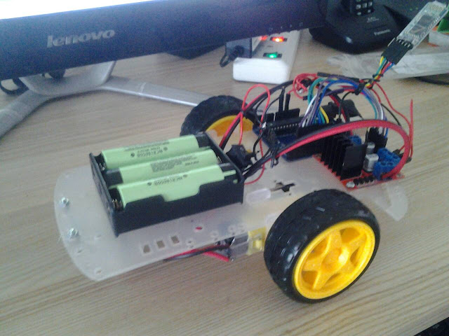 โปรเจครถบังคับ ขับเคลื่อน 2 ล้อ Arduino กับ แอพแอนดรอยด์