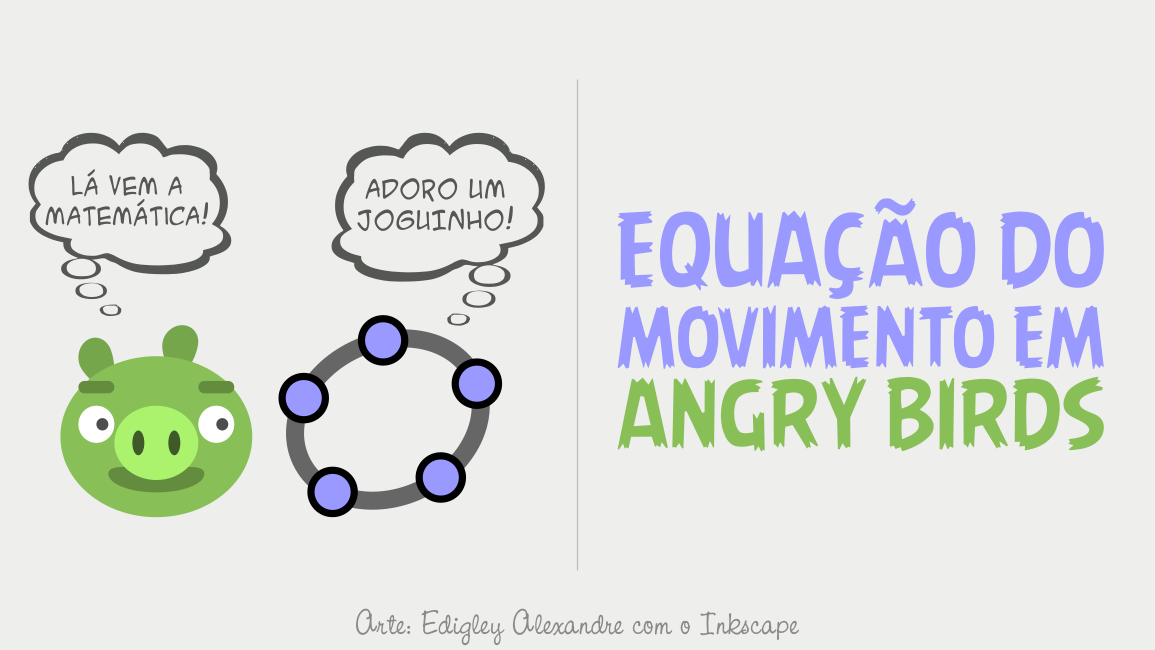 Equação do movimento no jogo Angry Birds com o GeoGebra