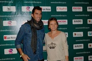 Simona Halep And Horia Tecau Posing At An Event