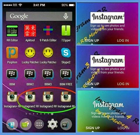 Download Multy Instagram dan Cara memasang 2 sampai empat (4) INSTAGRAM Sekaligus dalam satu HP android