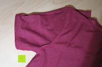 Ärmel innen: Lands' End - Baumwoll/Viskose-Shirt mit V-Ausschnitt