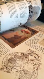 BLANDICE une double page sur le travail d'Ingrid Liman