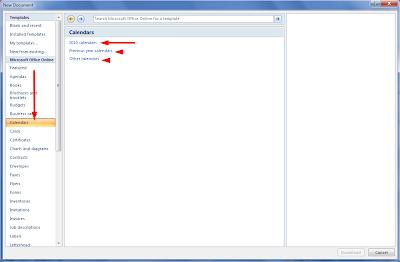 Cara Membuat Kalender di Microsoft Word 2007 Online