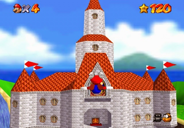 Nintendo and Universal Parks- Peach's Castle at the center