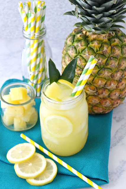 Simple Summer Pineapple Lemonade from LoveandConfections.com #sponsored by Dixie Crystals