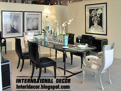 luxury Italian dining room furniture ideas, black and white dining room furniture