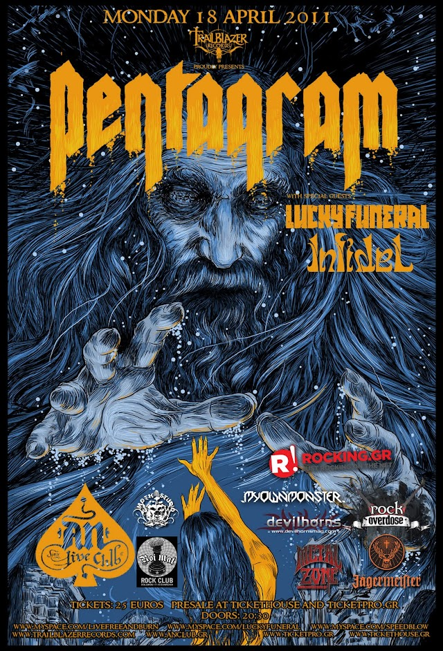 [Live Report] Pentagram, Infidel, Lucky Funeral @Athens,18/04/11