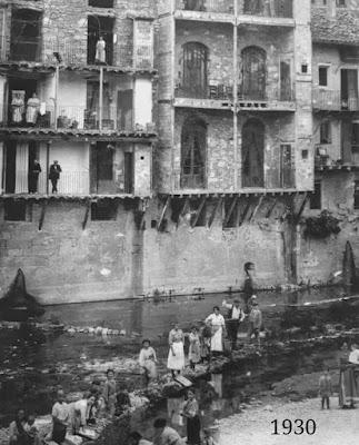 Valderrobres, 1930, puente piedra, fonda