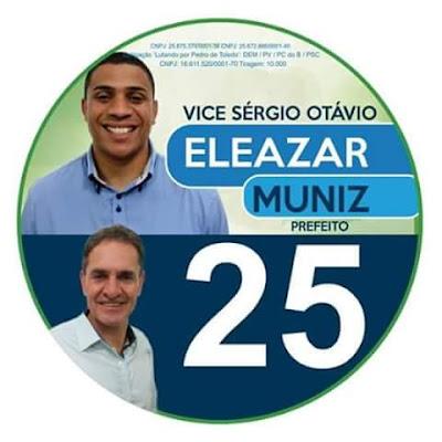 Eleazar Muniz é eleito prefeito de Pedro de Toledo