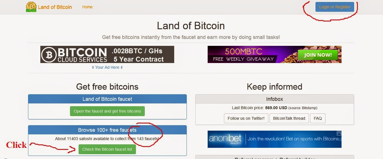 bitcoin faucets, land of bitcoin, online business