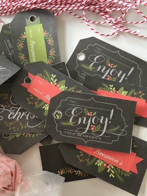 Lia Griffith printable chalkboard tags
