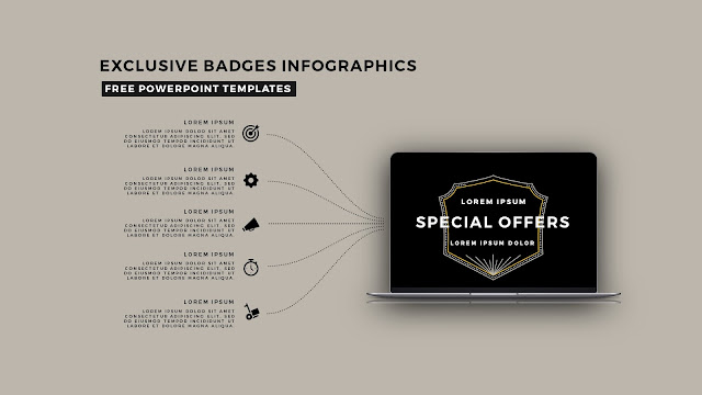 Infographic Badges Free PowerPoint Template for Special Offers Slide 8
