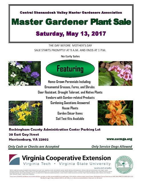 Virginia Cooperative Extension Master Gardener Program Master Gardener Plant Sale Central