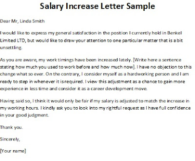 Doc575709 Salary Increase Letters Salary Increase Letter – Salary Review Letter Template