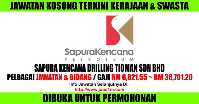 Jawatan Kosong Sapura Kencana Drilling Tioman Sdn Bhd - 29