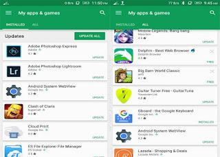 Google Play App History