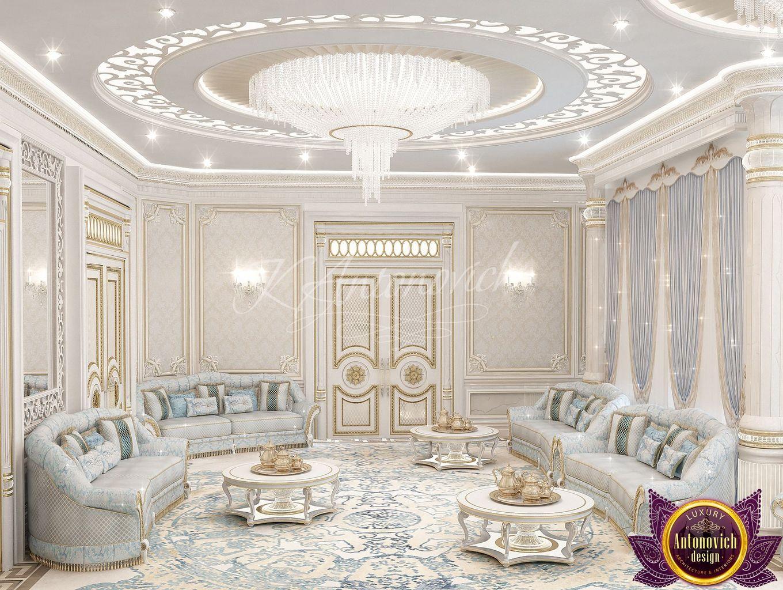 LUXURY ANTONOVICH DESIGN UAE: Living room design ideas of Katrina ...