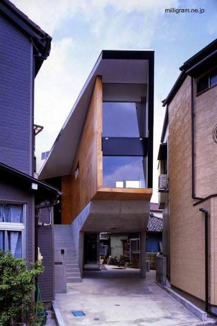 Fachadas de casas pequeñas,angosta