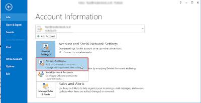 Cara Mengamankan Email Akun Microsoft Outlook 2013 Dengan Password