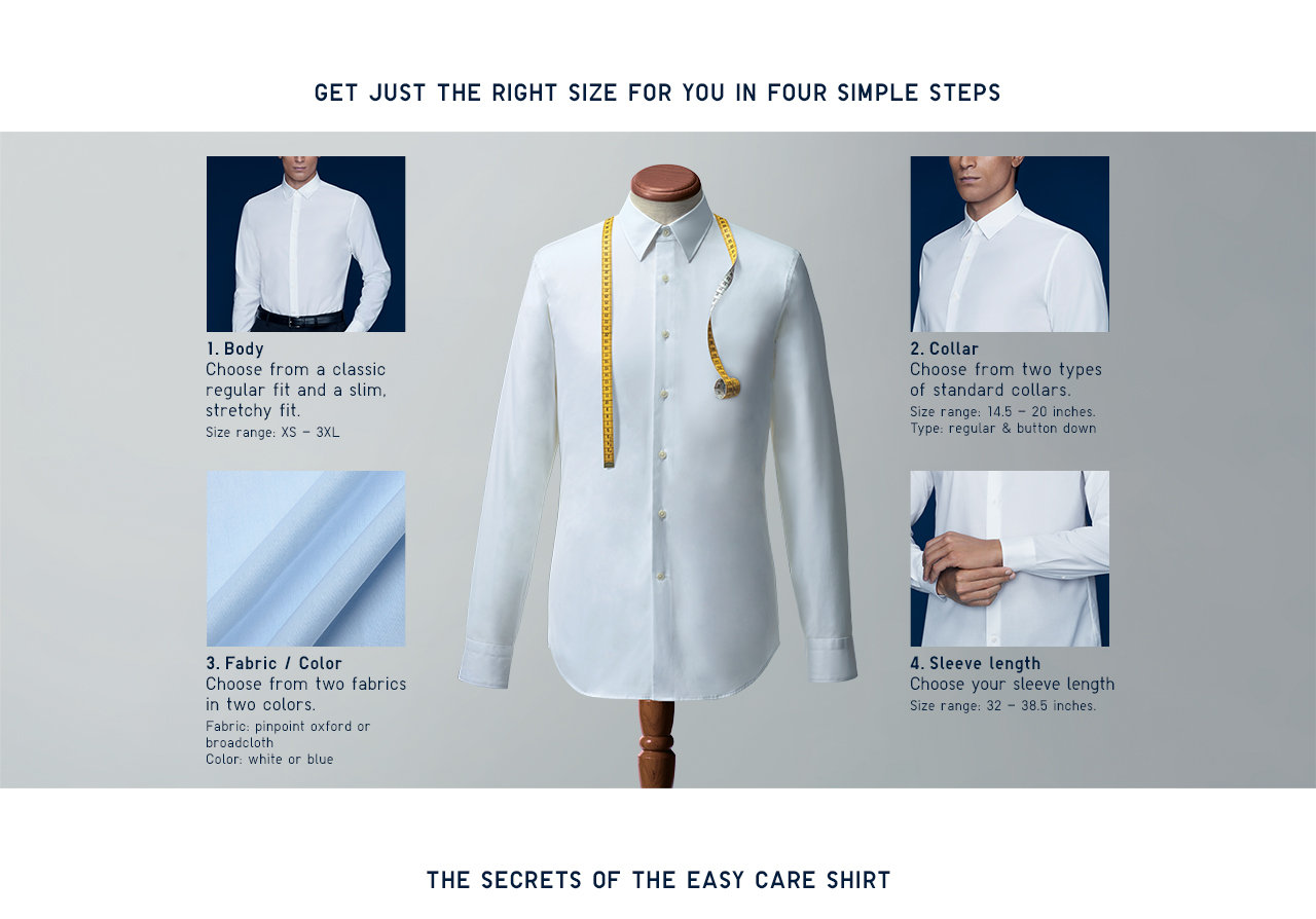 Uniqlo tailor made customized men 39 s dress shirt for Tailor made shirts online