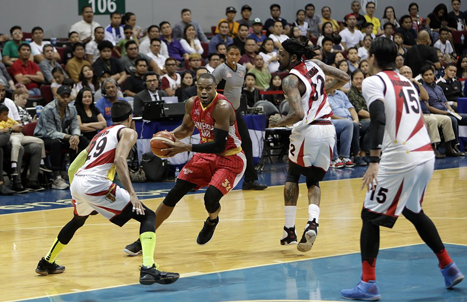 Justin Brownlee posted a solid 42 points to lift up Ginebra in their Finals game 1