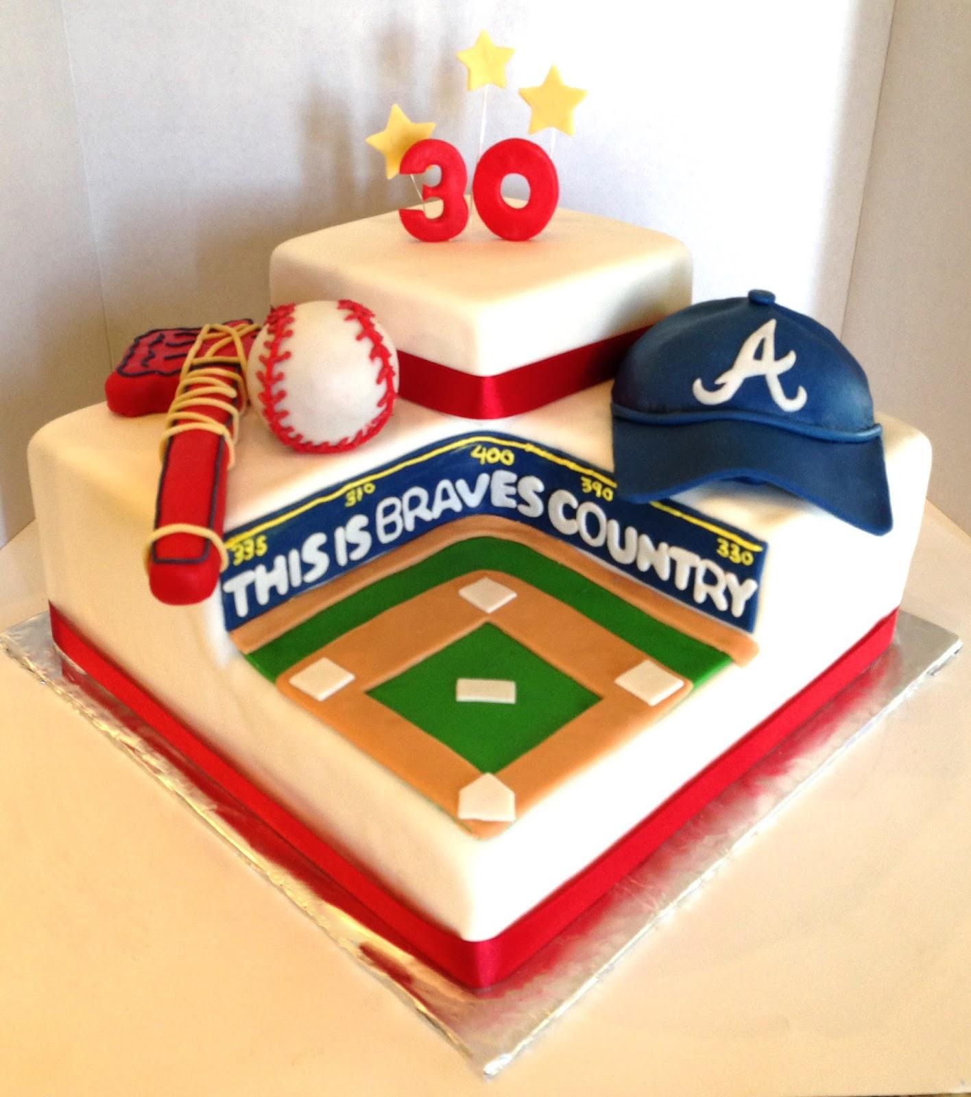 The Cake Market: Atlanta Braves Baseball Stadium Cake