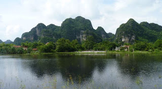 El paisaje en Ninh Binh.