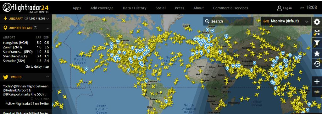 Aplicativo para monitorar voos em tempo real