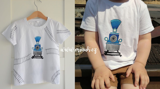 vláček tričko