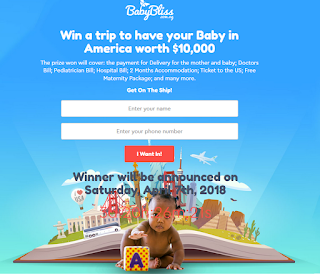 Babybliss Voucher Reward - 2018 | Win a Trip to Deliver Baby in America & $10,000