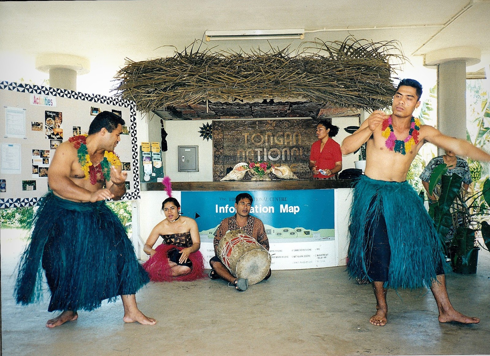 At this Tongan feast, there was also some dancing