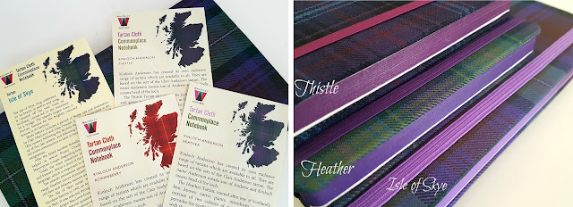 Back to School, tartan cloth notebook, genuine scotland tartan