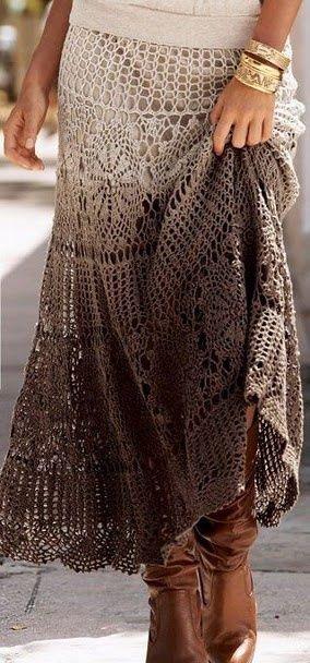 Patrones de faldas en crochet