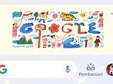 Google Doodle Hari Ini: Semarakkan Dirgahayu Kemerdekaan Republik Indonesia Ke-75