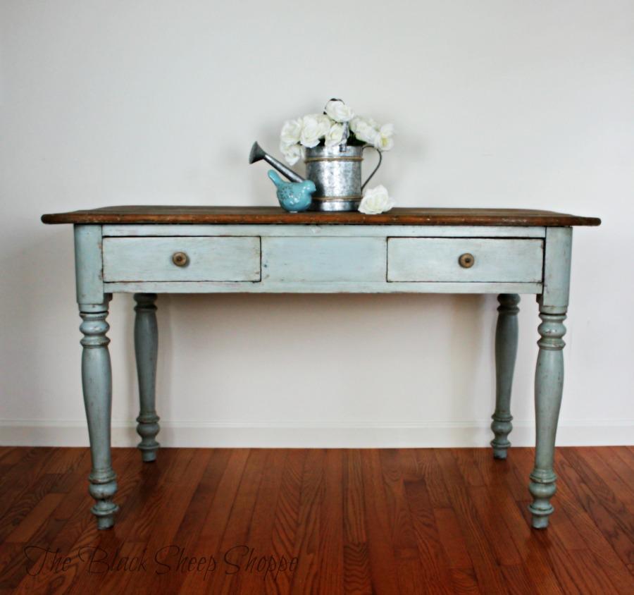 Rustic farmhouse style table.