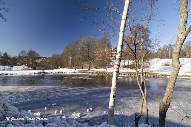 El Rio Aker congelado - Oslo por El Guisante Verde Project