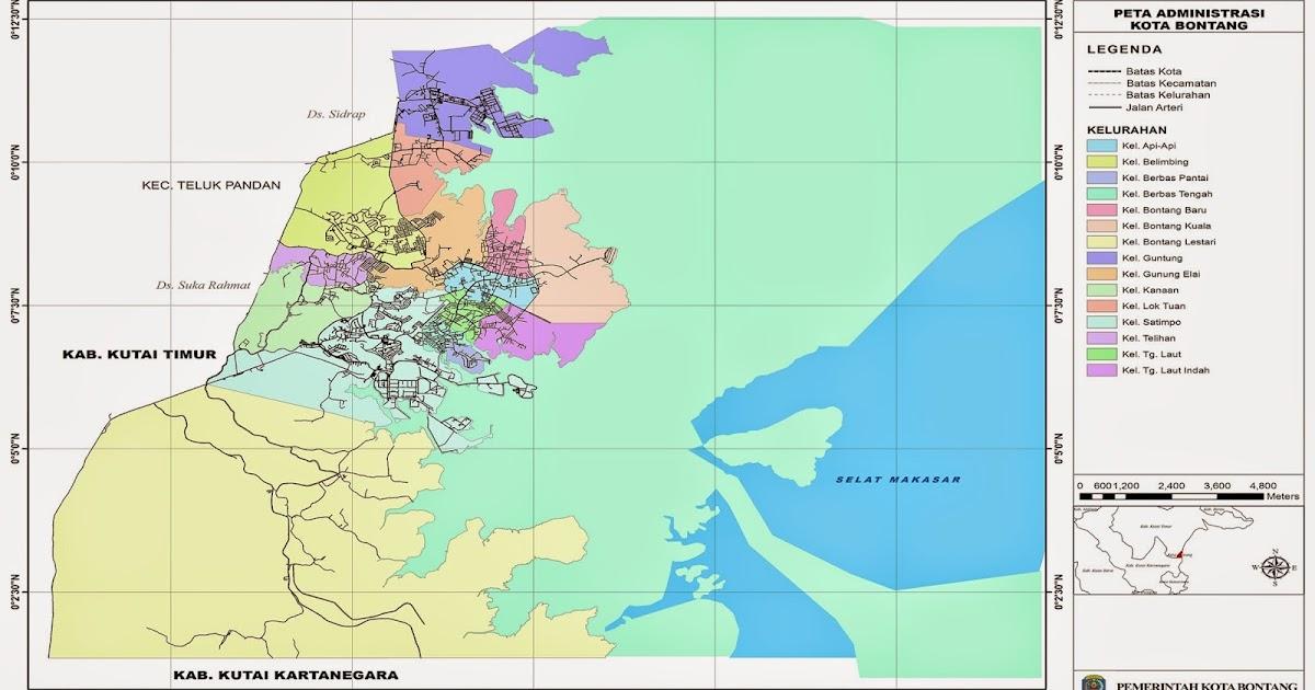 Peta Kota: Peta Kota Bontang