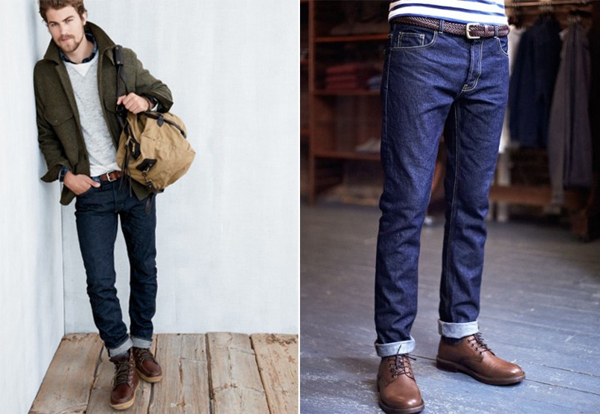 How to cuff skinny jeans for guys