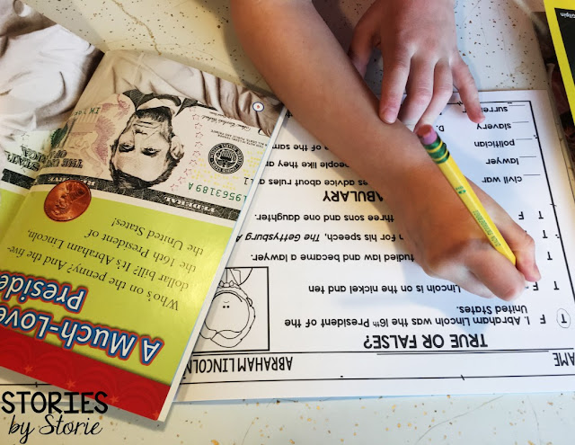 These comprehension checks are a great way to make sure your students understand what they read about each president.