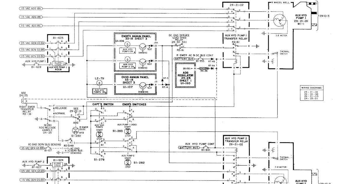 electrical circuit diagram aircraft