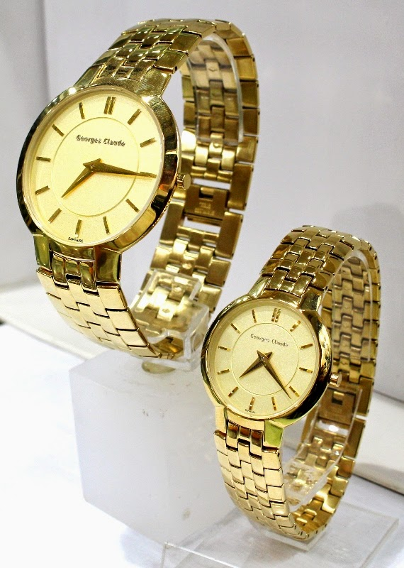 george claude 4139 couple gold male 44mm female 34mm