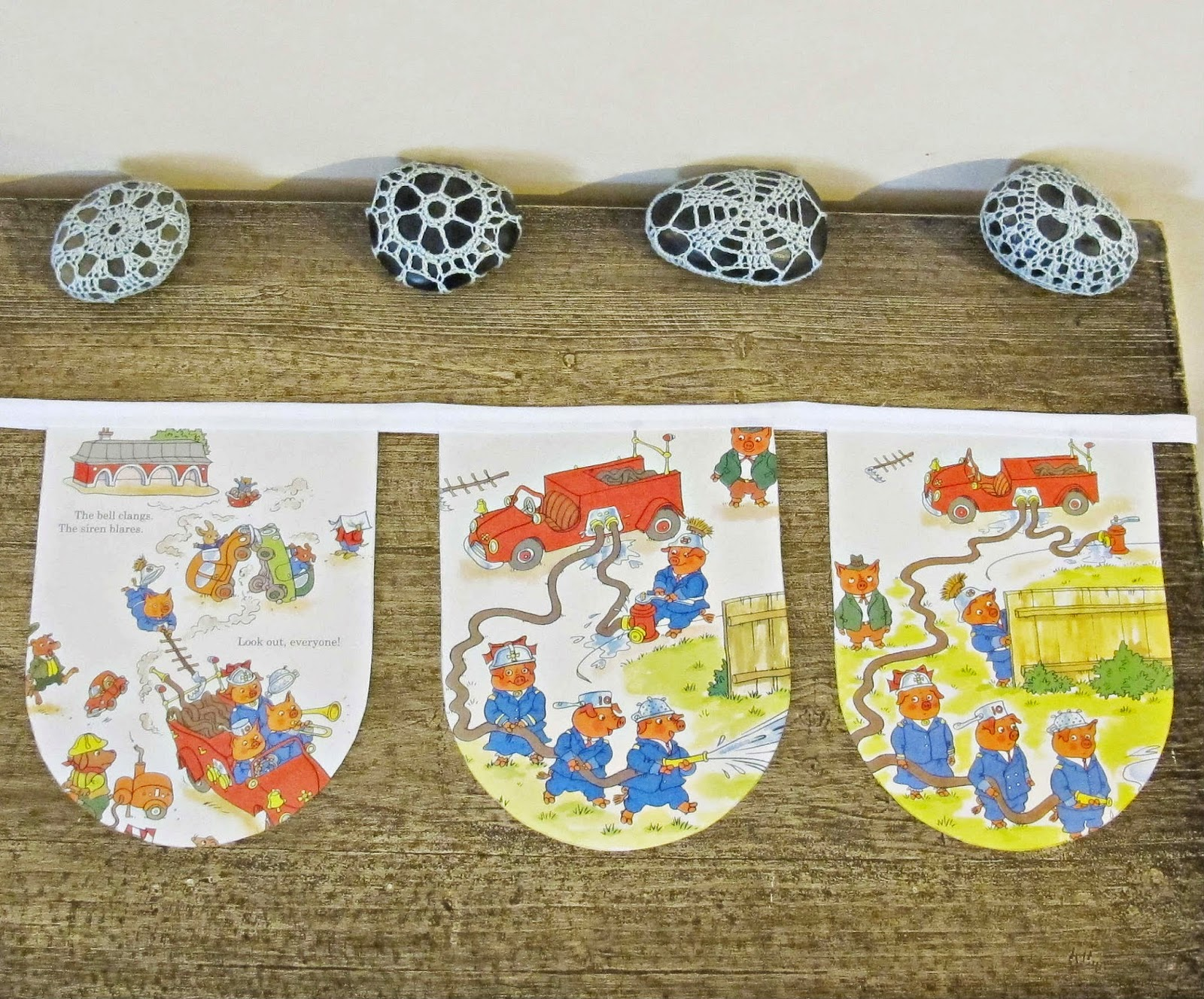image bunting richard scarry busiest fire fighters ever pigs animals