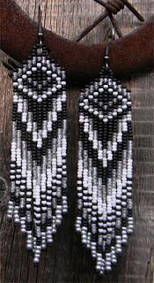 Купить длинные бисерные серьги в стиле бохо. Интернет-магазин авторских работ из бисера. Ручная работа.